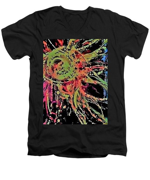 Sun Burst II Men's V-Neck T-Shirt
