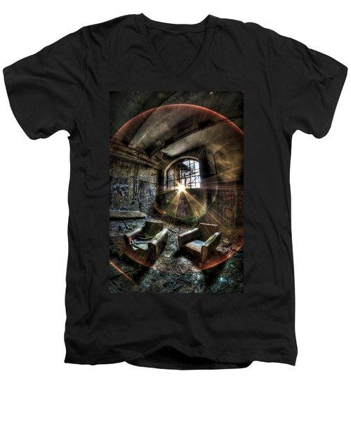 Sunburst Sofas Men's V-Neck T-Shirt by Nathan Wright
