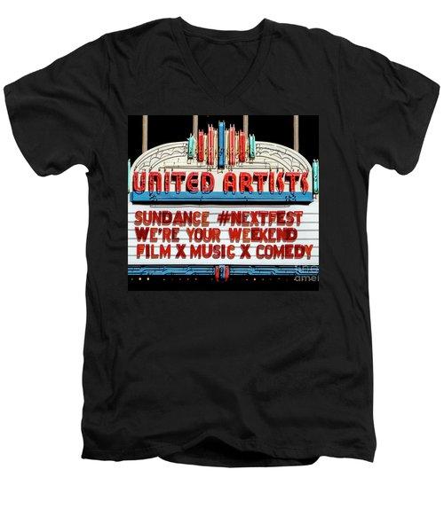 Sundance Next Fest Theatre Sign 1 Men's V-Neck T-Shirt