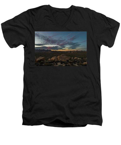 Sundown From Hilltop View Men's V-Neck T-Shirt