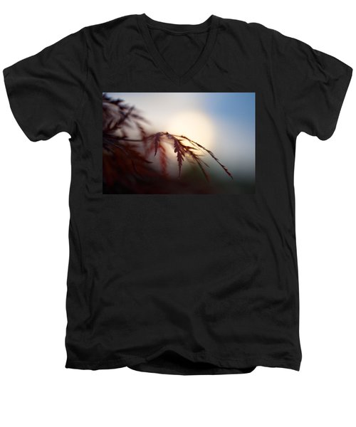 Sundown Men's V-Neck T-Shirt by Shane Holsclaw