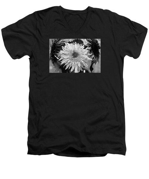 Sunflower 1 Men's V-Neck T-Shirt by Simone Ochrym