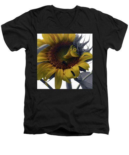 Sunflower Bee Men's V-Neck T-Shirt