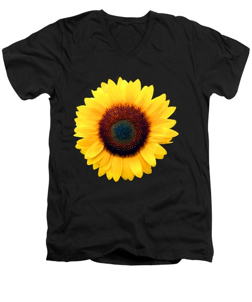 Sunflower Men's V-Neck T-Shirt by Bob Slitzan