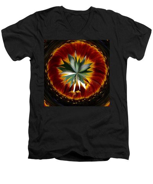 Sunflower Circle Men's V-Neck T-Shirt