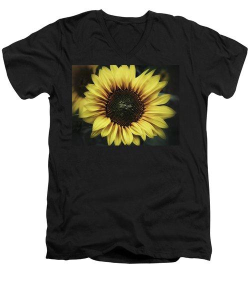 Men's V-Neck T-Shirt featuring the photograph Sunflower Dream by Karen Stahlros