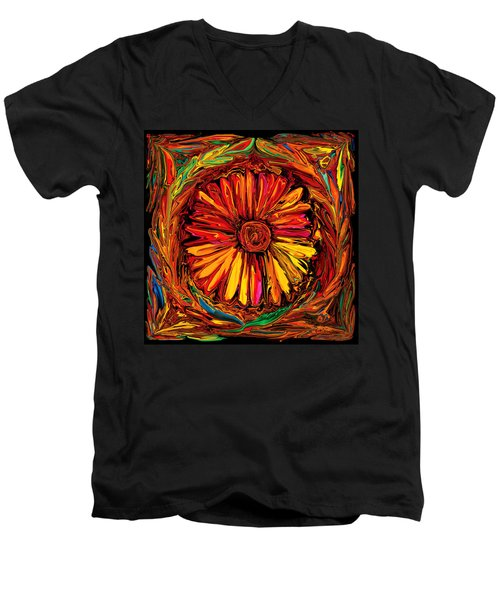 Sunflower Emblem Men's V-Neck T-Shirt