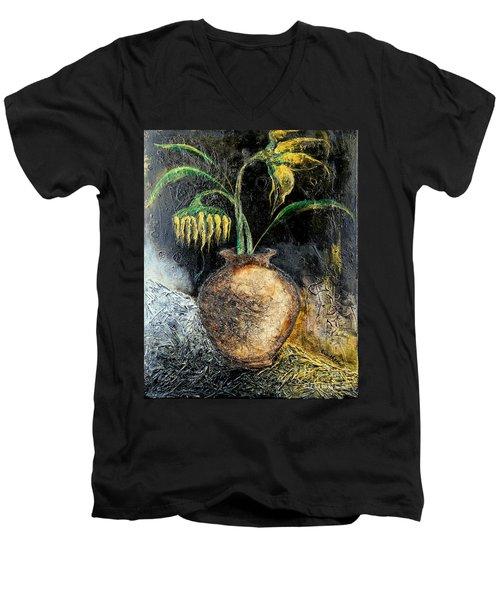 Sunflower Men's V-Neck T-Shirt by Farzali Babekhan