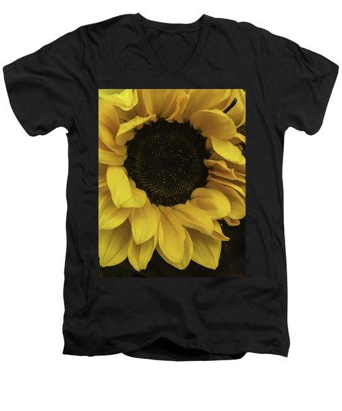 Sunflower Up Close Men's V-Neck T-Shirt