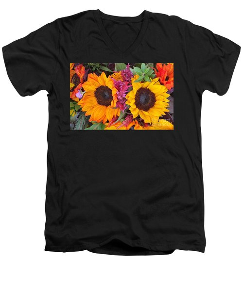 Sunflowers Eyes Men's V-Neck T-Shirt