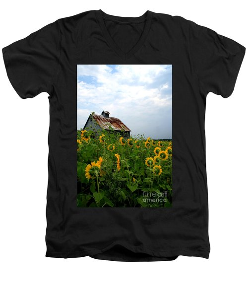 Sunflowers Rt 6 Men's V-Neck T-Shirt