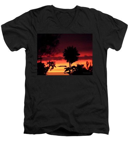 Sunflower's Sunset Men's V-Neck T-Shirt