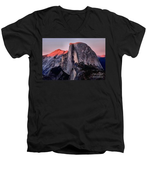 Sunkiss On Half Dome Men's V-Neck T-Shirt