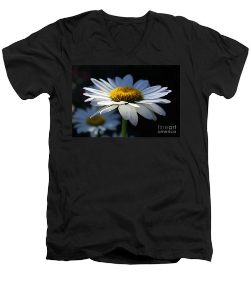 Sunlight Flower Men's V-Neck T-Shirt by John S