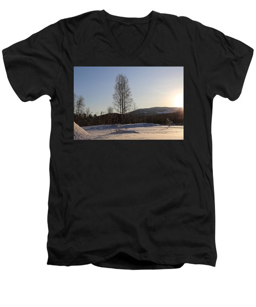 Sunny Day In Norway.  Men's V-Neck T-Shirt