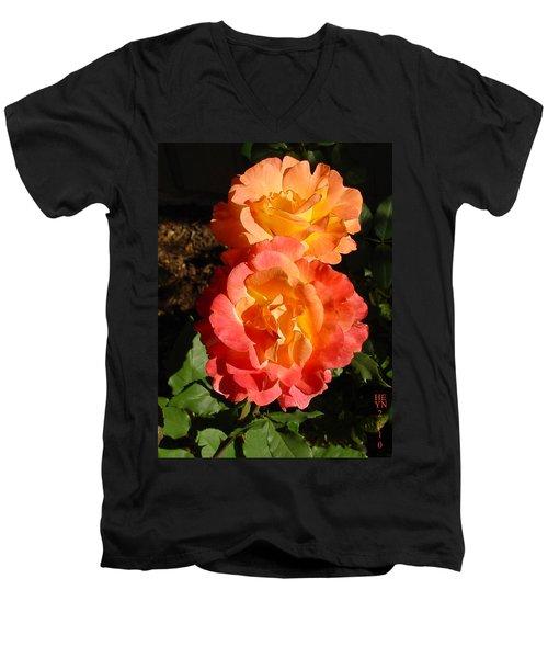 Sunny Roses Men's V-Neck T-Shirt