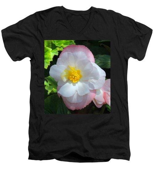 Sunny Men's V-Neck T-Shirt by Teresa Schomig