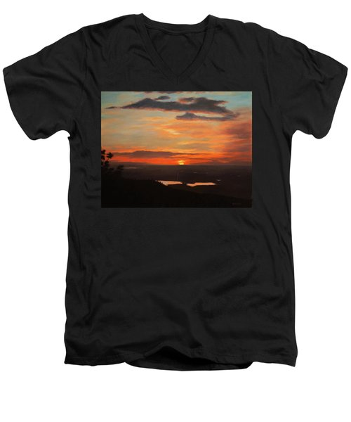 Sunrise Above Boulder Men's V-Neck T-Shirt