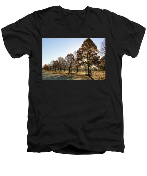 Sunrise And Long Shadows Men's V-Neck T-Shirt