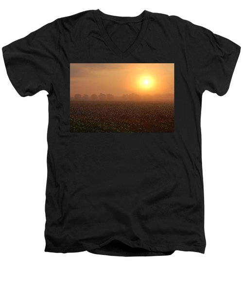 Sunrise And The Cotton Field Men's V-Neck T-Shirt