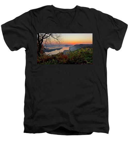 Sunrise At Homer, Mn Men's V-Neck T-Shirt