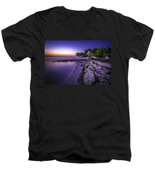 End Of The Beach Men's V-Neck T-Shirt