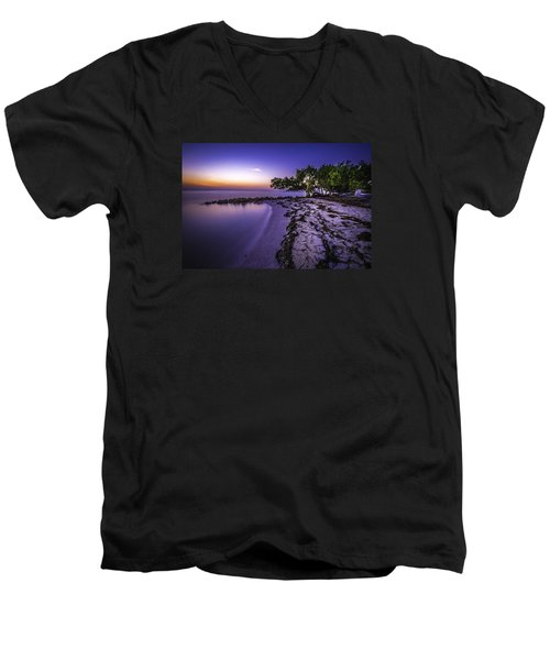 End Of The Beach Men's V-Neck T-Shirt