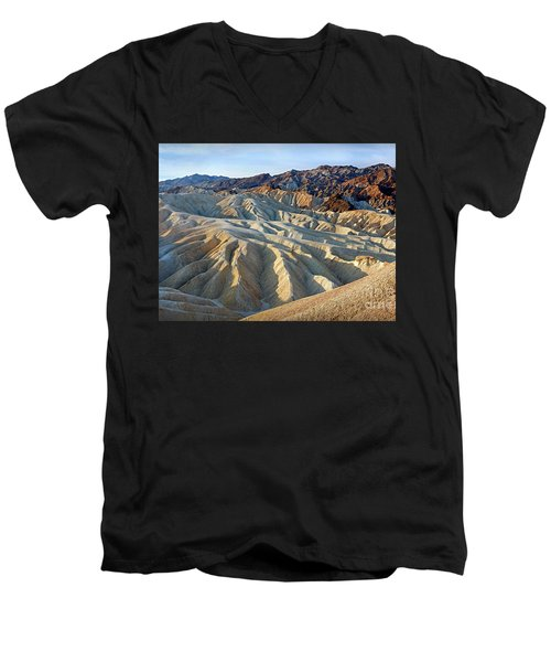 Sunrise At Zabriskie Point Men's V-Neck T-Shirt
