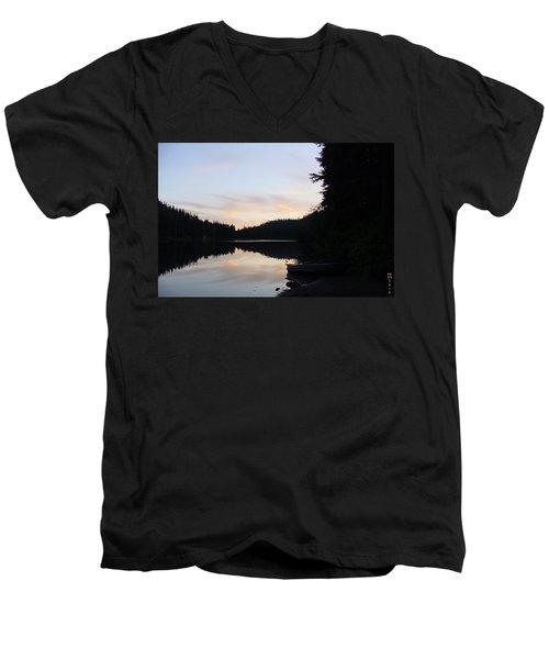 Sunrise Boat  Men's V-Neck T-Shirt