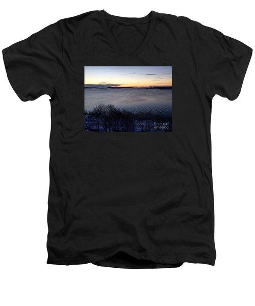 Sunrise Casco Bay January 21, 2016  Men's V-Neck T-Shirt