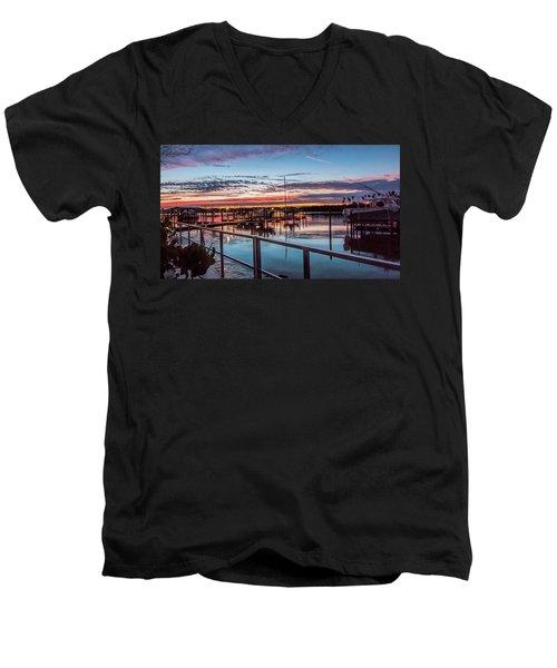 Sunrise Christmas Morning Men's V-Neck T-Shirt