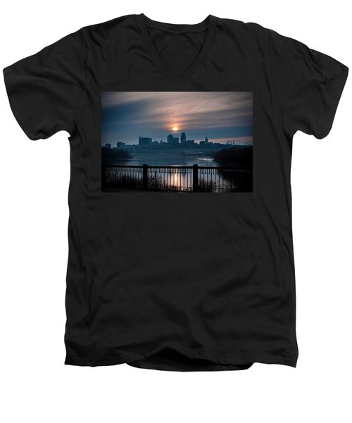Sunrise From Kaw Point Men's V-Neck T-Shirt