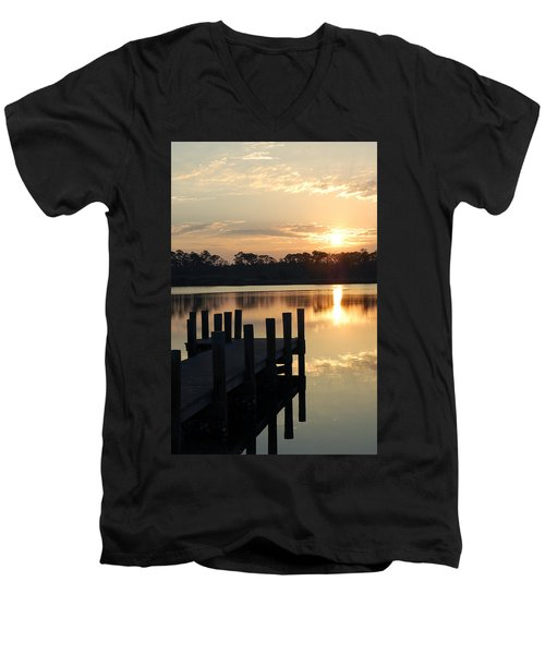 Sunrise In Grayton Beach II Men's V-Neck T-Shirt by Robert Meanor
