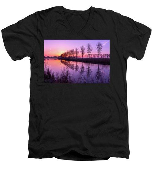 Sunrise In Holland Men's V-Neck T-Shirt