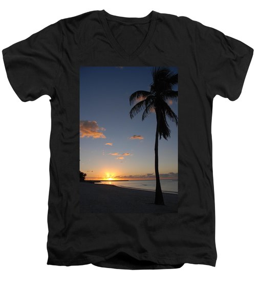 Sunrise In Key West 2 Men's V-Neck T-Shirt