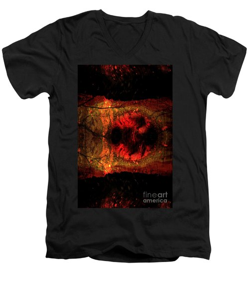 Men's V-Neck T-Shirt featuring the photograph Sunrise  by Lila Fisher-Wenzel