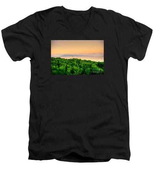 Sunrise On Maui Men's V-Neck T-Shirt by Kelly Wade