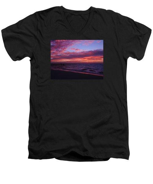 Sunrise On Sanibel Island Men's V-Neck T-Shirt