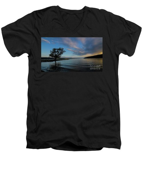 Sunrise On Seneca Lake Men's V-Neck T-Shirt