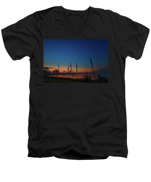 Sunrise On The Neuse 1 Men's V-Neck T-Shirt