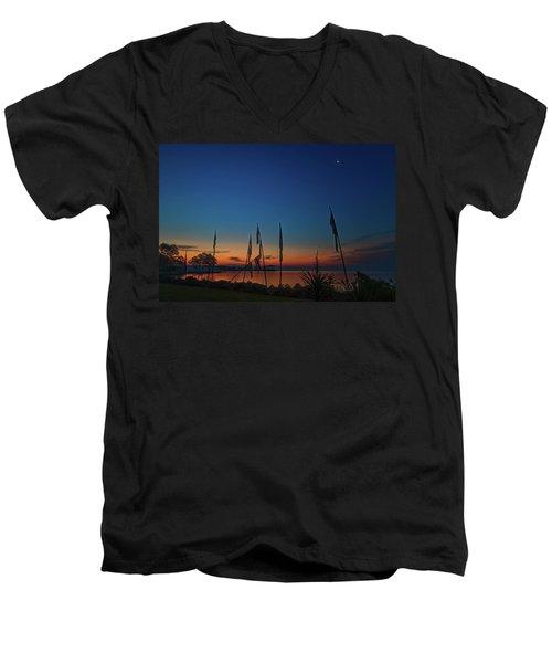 Sunrise On The Neuse 1 Men's V-Neck T-Shirt