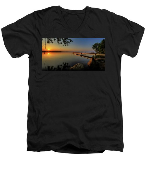 Sunrise Over Cayuga Lake Men's V-Neck T-Shirt
