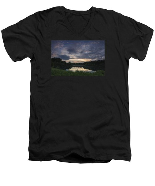 Sunrise Over Indigo Lake Men's V-Neck T-Shirt