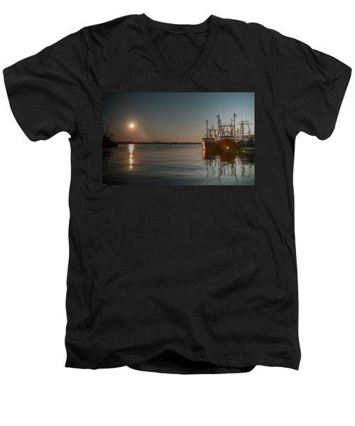 Sunrise Over New Bedford, Men's V-Neck T-Shirt