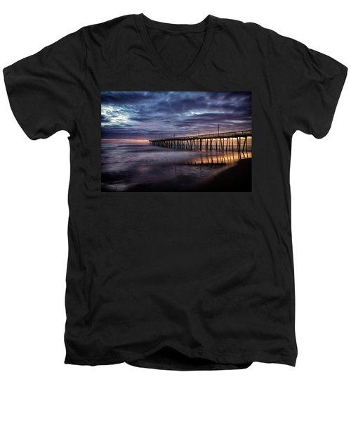 Sunrise Pier Men's V-Neck T-Shirt