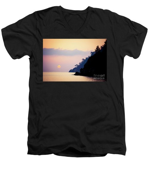 Sunrise Sea Rythm  Men's V-Neck T-Shirt