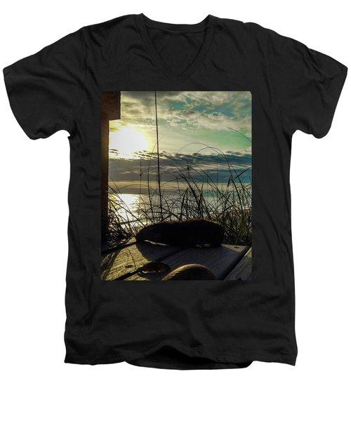Sunrise Sea Shells Men's V-Neck T-Shirt by Josy Cue