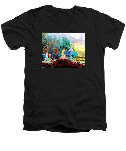 Sunrise Sonata Men's V-Neck T-Shirt