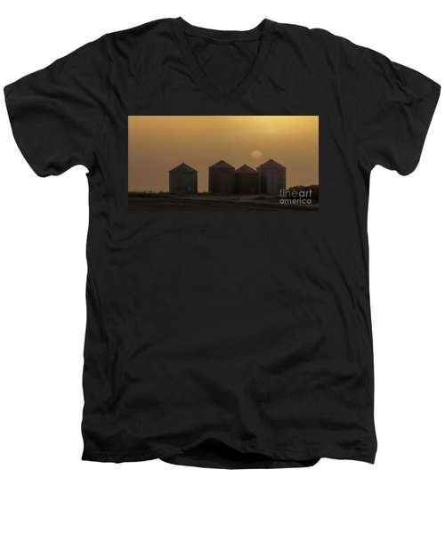 Sunrise Through The Fog Men's V-Neck T-Shirt