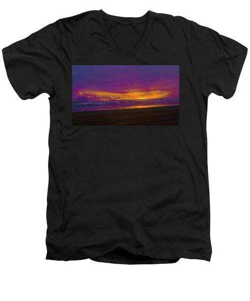 Sunset #3 Men's V-Neck T-Shirt